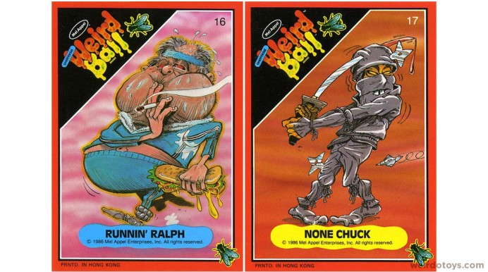 Weird Ball Figures' Trading Card Art