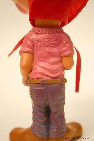 Gross Out Gang - Weird Big Lips toy with cape - Skilcraft 1987