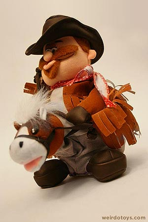 Animatronic cowboy toy that rides a horse and plays music - by Playmotions