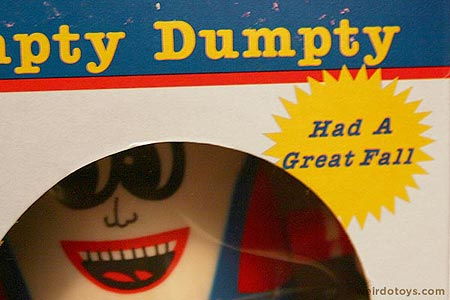 Humpty Dumpty Puzzle Bank Toy - Had a Great Fall - Package Detail