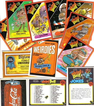Weird Ball Collector's Cards