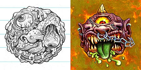 Madballs Concept art by james Groman