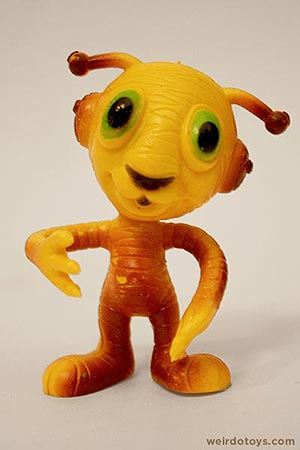 Outer Terrestrial Creatures - Tiggy - Weird, bendy alien toy by Marty Toy, 1983