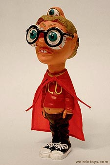 Gross Out Gang - Seezall - Bulging-Eyed nerd with glasses, red cape and eyes on the top and back of his head - Skilcraft 1987