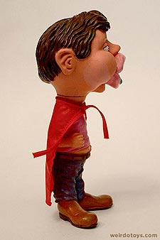 Gross Out Gang - Lips Kid - Goofy Guy with huge, drooling lips and puffy cheeks wearing a red cape - Skilcraft 1987