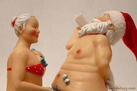 Mr. & Mrs. Santa in the Bathtub - Animatronic Toy - Action Novelty Corp.