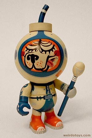 Friends of Printmaking's Dingus Dog - Series 2 Blow Up Dolls by Jamungo