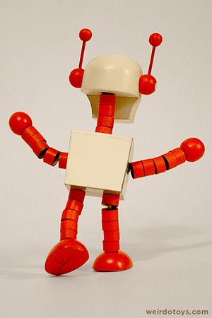 Gama-Go Deathbot Wooden Toy by Tim Biskup and  Ningyoushi