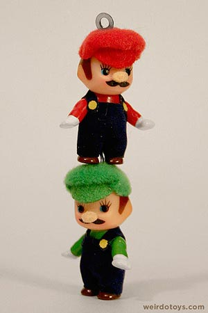 Kewpie Doll - Mario and Luigi Keychains