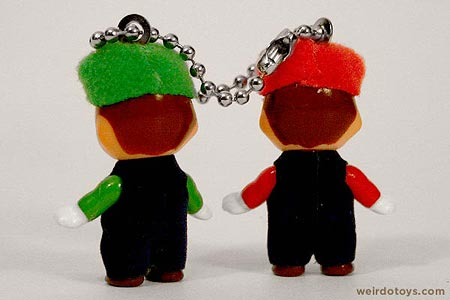 Kewpie Doll - Mario and Luigi Keychain