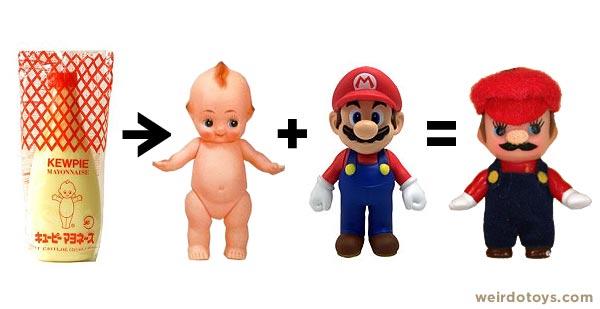 Kewpie Mayonnaise --> Kewpie Doll + Mario = Kewpie Mario