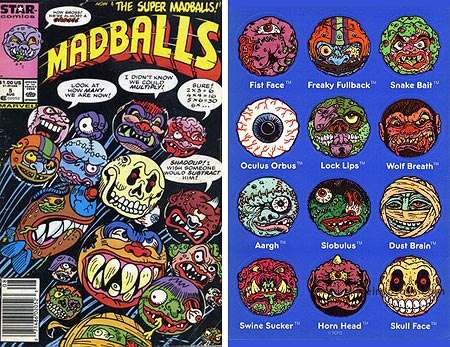 Madballs Comic and Sticker Sheet