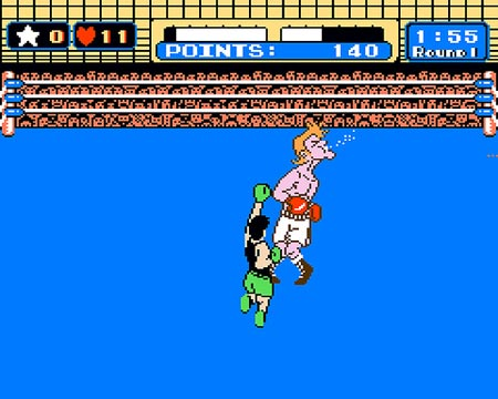Little Mac punching Glass Joe