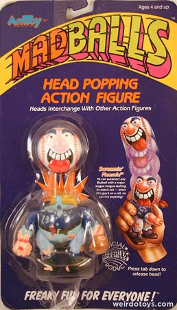 Screamin' Meemie toy package - Head Popping Madballs figure by AmToy