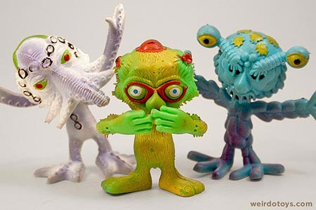 Outer Terrestrial Creatures - Weird, bendy alien toy by Marty Toy, 1983