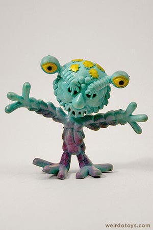 Outer Terrestrial Creatures - Blobby - Weird, bendy alien toy by Marty Toy, 1983