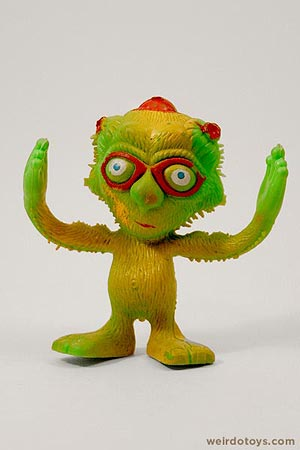 Outer Terrestrial Creatures - Mooky - Weird, bendy alien toy by Marty Toy, 1983