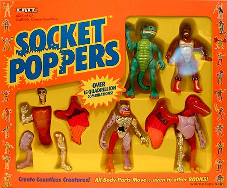 Socket Poppers figures box by Ertl