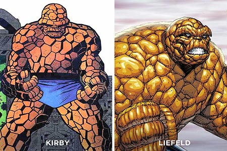 The Thing Comic Panels