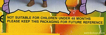 MONSTER toyline package detail