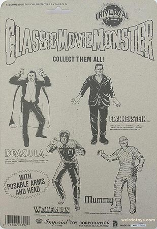 Classic Movie Monsters by Imperial Toys