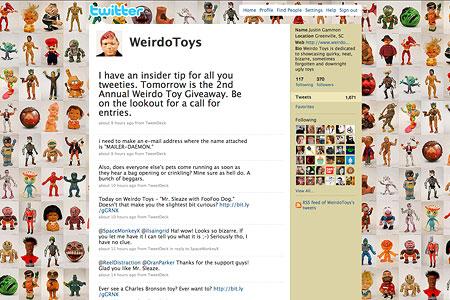 Weirdo Toys Twitter