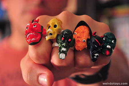 Monster Face Rings